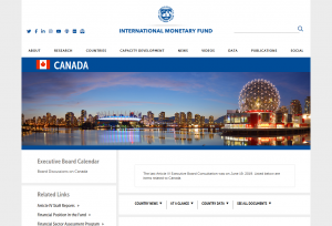 IMF Country Information on Canada